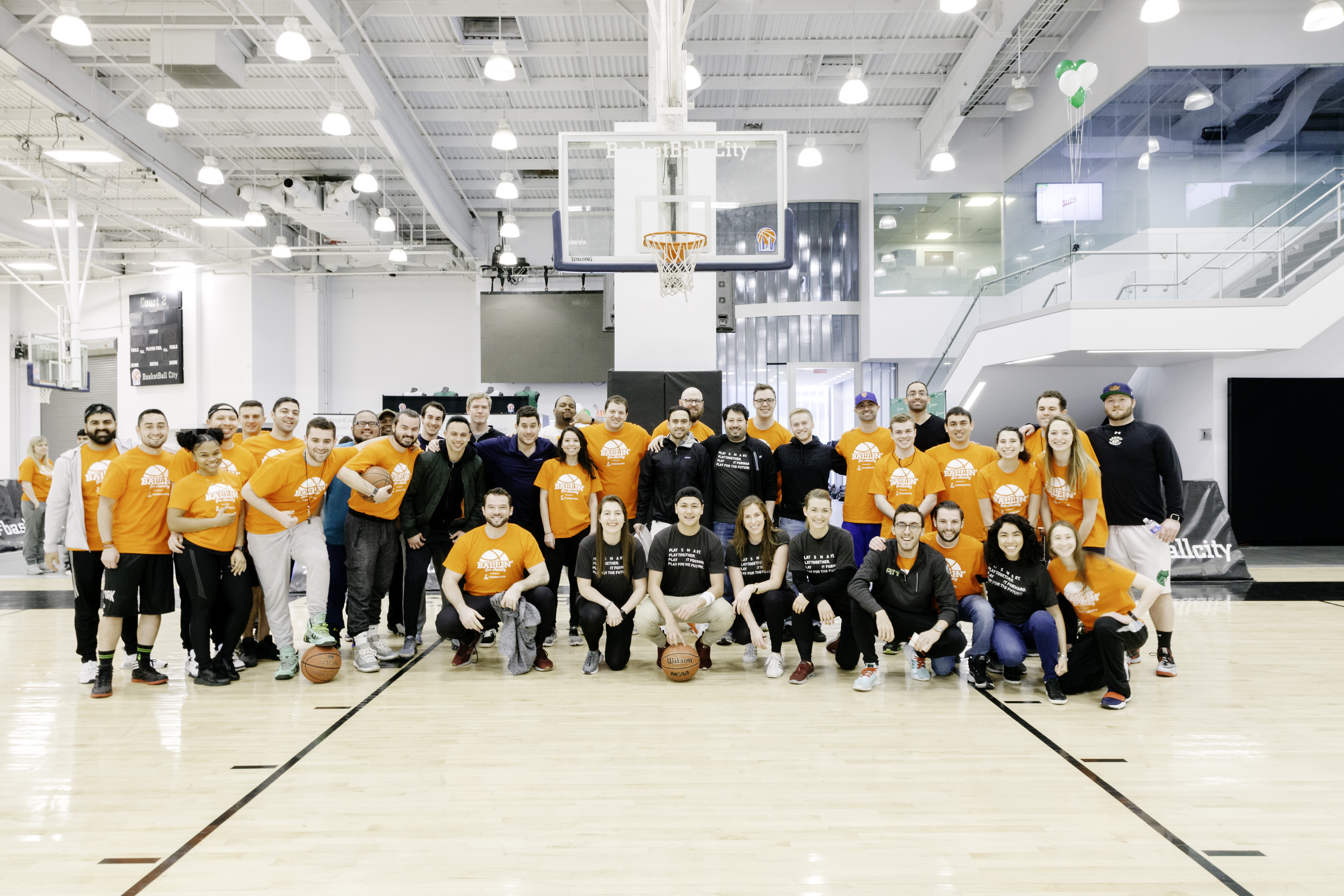 Photographic documentation of the third annual Ballin for Charity event run by LeagueApps